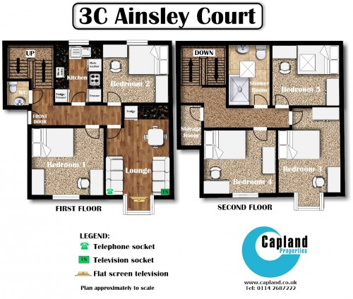 Student Apartment For 5 At 3c Ainsley Court In Sheffield