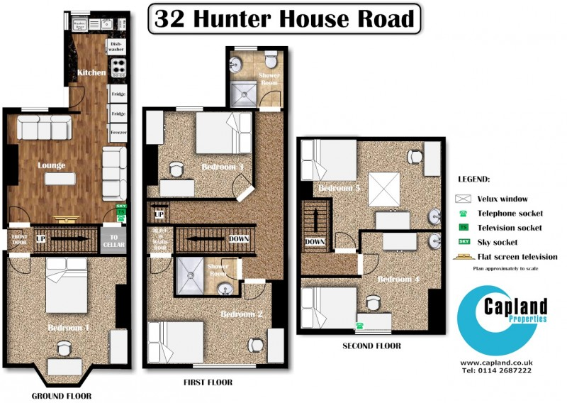 Student House For 5 At 32 Hunter House Road In Sheffield